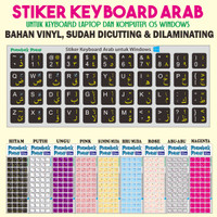 Stiker Keyboard Arabic (stiker huruf arab untuk keyboard PC, Laptop)
