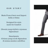 Celana Kerja Pria Slim Fit bahan Wool setara Executive cardin alisan