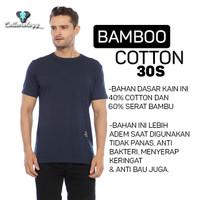 Cottonology Kaos Polos Cotton Bamboo Lengan Pendek Navy