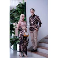 [WIDBATIK] Kebaya dan Batik Couple Alena Brown-Baju Kondangan