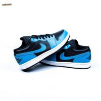 Sepatu NIKE AIR JORDAN 1 Low Laser Blue Black - 10.5