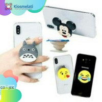 Holder Pop Socket 4D Karakter Cartoon Series/IRING Disney Lucu Murah
