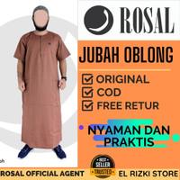Baju Jubah Gamis Oblong Muslim Pria Laki Dewasa Karamel Lengan Pendek