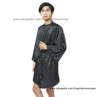 kimono hitam baju tidur cowok All Size Fashion yukata pria all size
