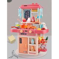 (JUMBO 63CM) Spraying mist kitchen set anak mainan masakeluar uap asli