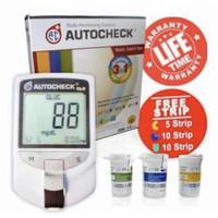 Alat Tes Gula Darah Asam Urat dan Kolesterol Auto Check GCU