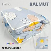 Bantal Traveling Lipat Dewasa Balmut Motif Galaxy 100x150cm