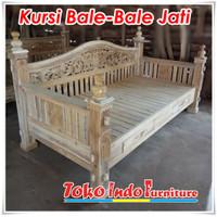 Kursi Teras Bale Jati Motif Rahwana 200 x 100 cm