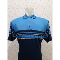 Kaos Kerah POLO Wangki Salur-2 - Pria dengan Kantong -PONTING