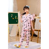 Piyama/baju tidur anak kancing premium import limited Snow White (253)