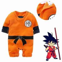 Baju Romper / Baby Jumper Lengan Panjang Bayi cowo Anime Son Goku