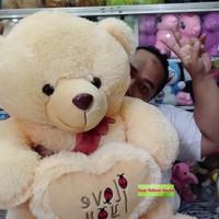 Boneka Teddy Bear Cute Jumbo with Love  I LOVE YOU