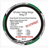 lis veleg ninja ring 17/custom sticker veleg/ninja kawasaki
