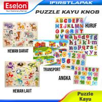 Mainan anak Puzzle Kayu KNOB Mainan Edukasi Anak Wooden Puzzle Puzle - ANGKA DX-522