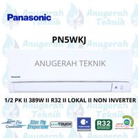 AC SPLIT PANASONIC 0.5 PK 0.5 PK R32 STANDAR NON INVERTER - PN5WKJ