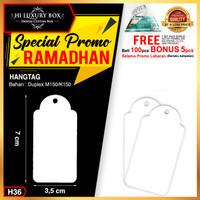 Hangtag|Hangtag Murah|Hangtag Premium Murah|3.5x7|H36 - H36