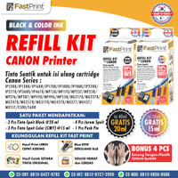 Fast Print Tinta Suntik Refill Ink Printer Canon Black Colour 1 Set