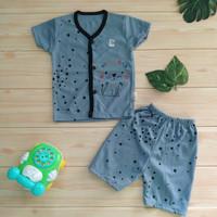 Setelan Bayi Laki Laki Usia 3 6 Bulan/ Baju Bayi Lengan Pendek SNI