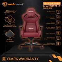 AndaSeat Kaiser 2 Series Premium Kursi Gaming Chair Black Maroon