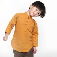 KEMEJA KOKO ANAK Lengan Panjang KUNING KUNYIT 1 - 10 Tahun Baju Koko