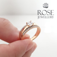[ 100% Real Pic ] Rose Cincin Warna Emas 18K Nomor CMTK2691