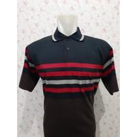 Kaos Kerah POLO Wangki Salur-3 - Pria dengan Kantong -PONTING