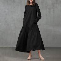 Beladona Midi Dress Ruffle / Maxi Dress Bahan Katun Rayon