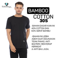 Cottonology kaos Polos Lengan Pendek Hitam