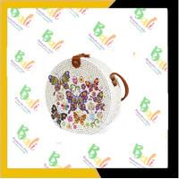 authentic Balinese handicraft souvenirs Tas bulat Bali motif