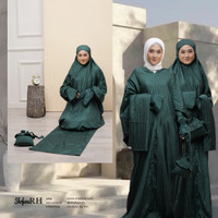 Mukena Terusan 2in1 Salwa Series Set Sejadah Warna Emerald