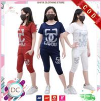 Baju Setelan Wanita Sport Kasual Terbaru 4 Varian CAYU - Navy