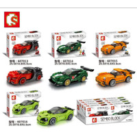 mainan anak sembo block mobil balap / sembo block famous car