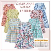 1-5 Thn Naura Gamis Anak - Baju Muslim Anak Perempuan