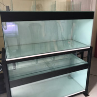 Paket 2 unit aquarium 120x50x50 8mili dan rak