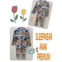 New Import Setelan Baju Tidur Korea Anak Cowok bahan Premium