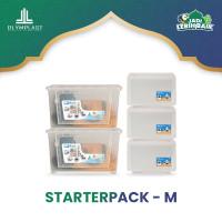 Olymplast Starterpack Rumah Rapi M - Box Container + Kotak Penyimpanan