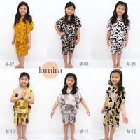 Pakaian Tidur Anak Katun Rayon Setelan Baju Set Cowok Cewek Piama Laki