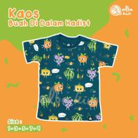 Kaos Anak Laki-laki T-shirt Kasual Albakids Biru Buah Jeruk Anggur