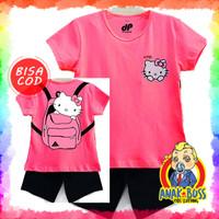 Setelan Baju Anak Perempuan Motif Hello Kitty BP 1-10 thn anak boss - 1-2
