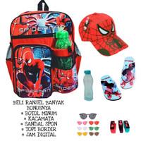 Tas ransel spiderman anak laki laki bonus banyak