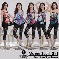 setelan baju senam SET SPORT GIRL baju senam zumba fitness yoga gym