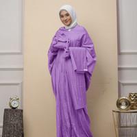 Mukena Terusan 2in1 Salwa Series Set Sejadah Warna Violet