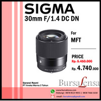 Sigma 30mm F/1.4 DC DN for MFT (Micro Four Thirds System)