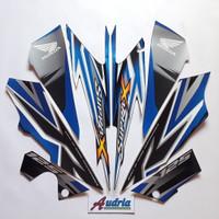 Striping Stiker Motor Honda Supra X 125 Std 2012 Hitam-Biru