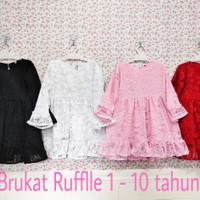 baju anak perempuan Brukat model Ruffle 1-10 / baju anak / baju murah