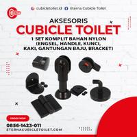 Aksesoris Cubicle / Partisi Toilet Set Komplit Bahan Nylon / Nilon