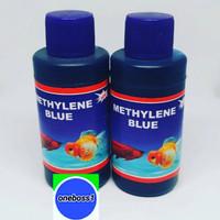 Obat Biru Obat Ikan Methylene Blue Ikan Hias Cupang Guppy Aquarium 100