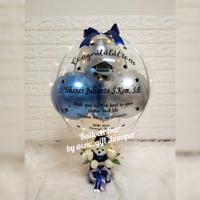 kado wisuda/graduation/kado balon/balon box/balloon bouquet