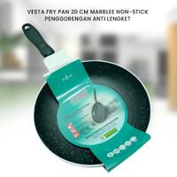VESTA FRY PAN 20 CM MARBLE NON-STICK - PENGGORENGAN ANTI LENGKET