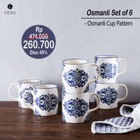 PERO OSMANLI CUP PATTERN SET OF 6